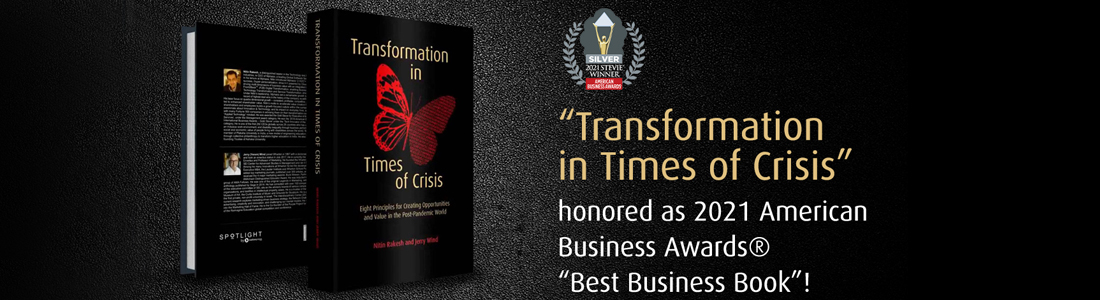 Transformation in TImes of Crisis honored as 2021 American Business Awards Best Business Book